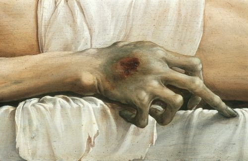 holbein The_Body_of_the_Dead_Christ_in_the_Tomb_Detail