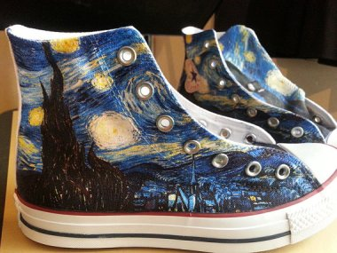 starry night shoes