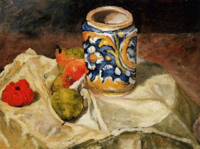 Cezanne Still life with Italian earthenware jar c1874